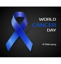 Awareness blue ribbon isolated on black vector