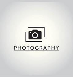 black icons for photographer on white background vector image