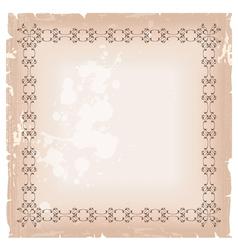 blank banner frame template vector image