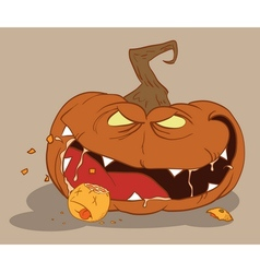 Bloodthirsty pumpkin vector