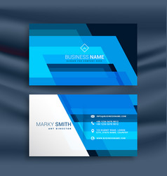 Blue abstract business card design vector