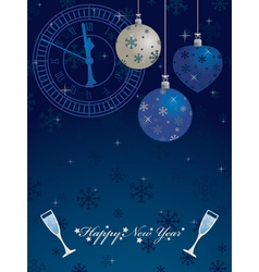 blue new years vector image