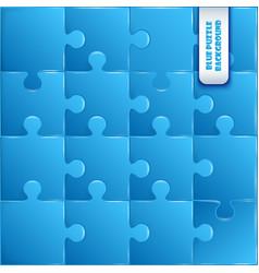 Blue plastic pieces puzzle game vector