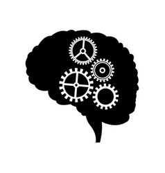 Brain gear mind idea creativity vector