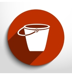bucket flat icon vector image