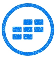 Calendar Grid Rounded Icon Rubber Stamp vector