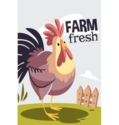 Cartoon rooster design vector