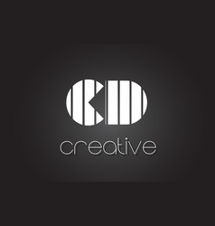 Cd c d letter logo design with white and black vector