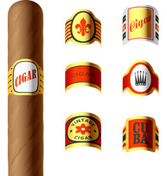 Cigar labels vector