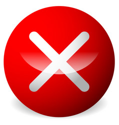 Circle with x shape cross delete remove quit vector