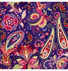 Colorful indian seamless pattern vector image