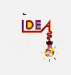 Colorful light bulb icon and creativity idea vector