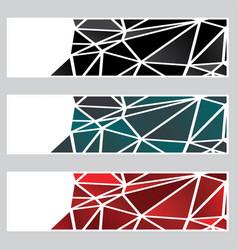 dark polygonal banners vector image