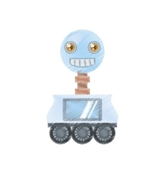 drawing arificial intelligence robotic smiling vector image