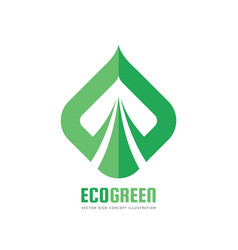 eco green logo template concept vector image