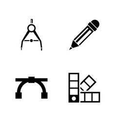 Engineering tools simple related icons vector