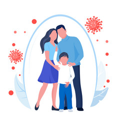 family health protection from bacterium or disease vector image