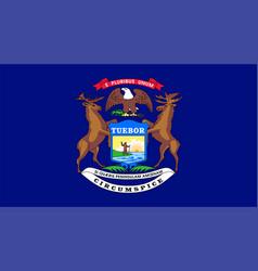 flag usa state michigan vector image