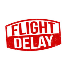 Flight delay sign or stamp vector