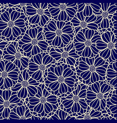 floral pattern of overlapping flowers vector image