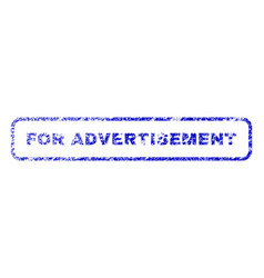 For advertisement rubber stamp vector
