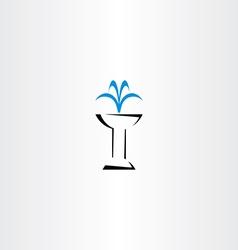 fountain icon symbol vector image