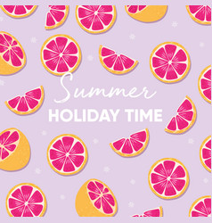 Fruit design with summer holiday time typography vector