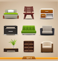 Furniture icons-set 8 vector