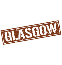 Glasgow brown square stamp vector