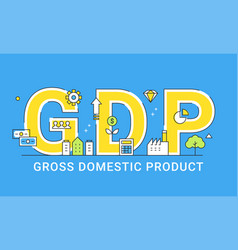 gross domestic product sign vector image