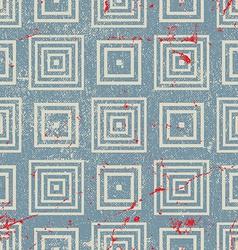 Grunge vintage geometric seamless pattern old vector image