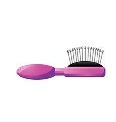 Hair brush vector