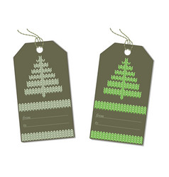 herringbone knitted on the label green vector image