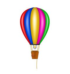 Hot air balloon in coloured design vector