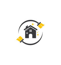 house cleaner logo vector image