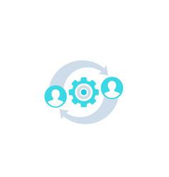 Hr management icon on white vector