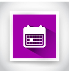 Icon of calendar for web and mobile applications vector image