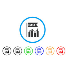 imo chart trend icon vector image