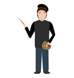 isolated artist avatar vector image