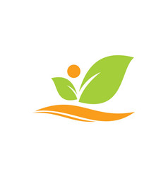 Leaf beauty organic logo vector