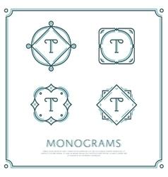 Letter T Monogram vector