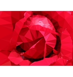 low poly floral summer background vector image