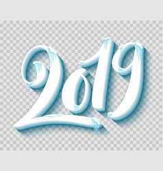 merry christmas and happy new year 2019 with vector image