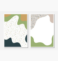 modern templates with liquid shapes and terrazzo vector image
