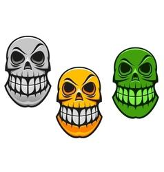 monster skull vector image