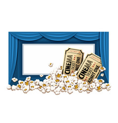 Movie theater hall and tickets vector