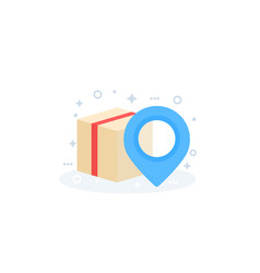 Parcel package delivery icon vector