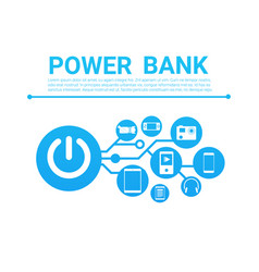 power bank battery concept portable charger for vector image