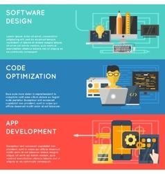 Program Development Banner Set vector image