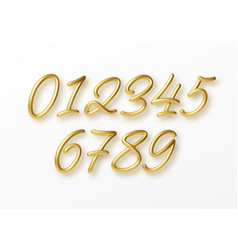 realistic 3d lettering numbers isolated on white vector image
